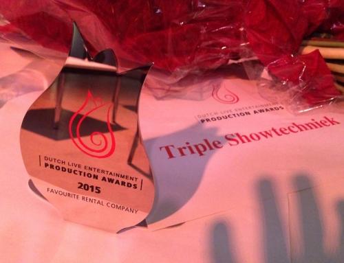 Triple Showtechniek wint award 'Favourite Rental Company' bij Dutch Live Entertainment Production Awards